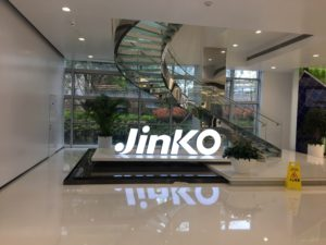 Jinko Solar is one of China's biggest producer of solar products