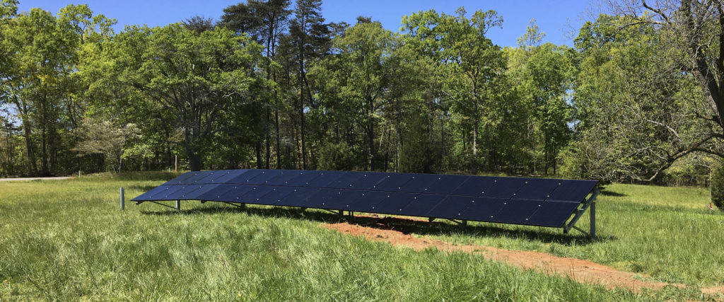 solar panels installed behind my north georgia home