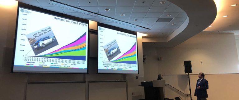 Terry Boston, retired CEO of PJM, presenting