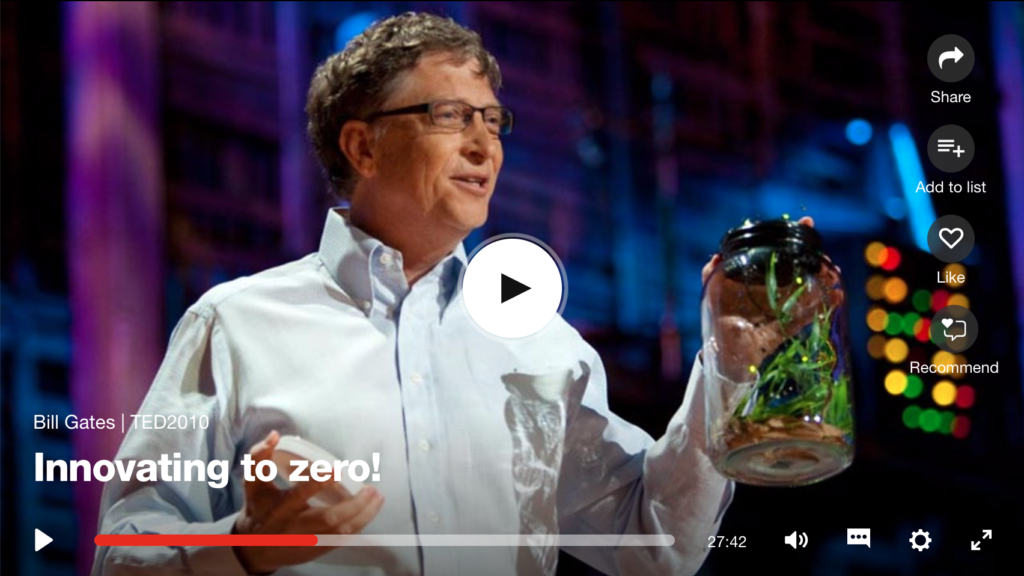 Bill Gates TED Talk on our clean energy future