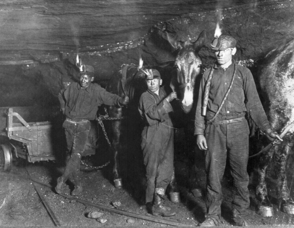 Coal miners circa 1908