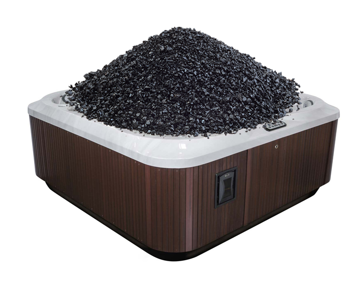 800 pounds of coal, enough to power a lightbulb, takes up about a hot tub's worth of volume