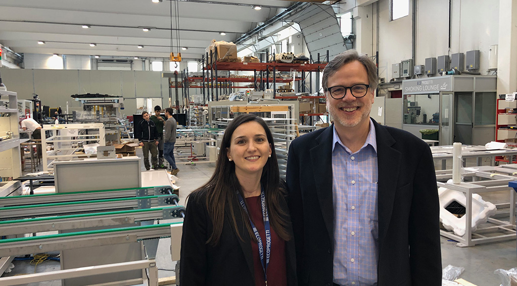 Laura Satore Bill Nussey in Ecoprogetti Factory