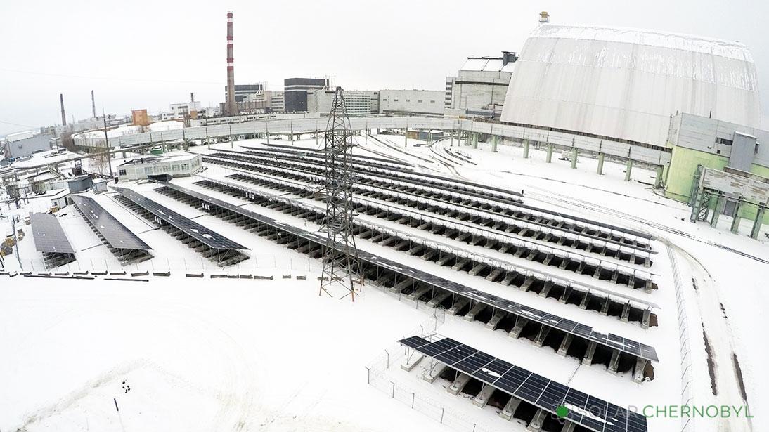 Solar panels Chernobyl nuclear plant
