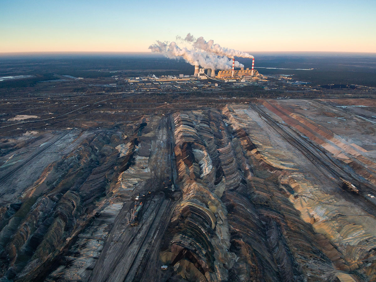 A large coal strip mine